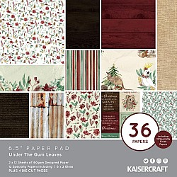 KaiserCraft paper pad - Under the Gum Leaves (Christmas) (6.5 by 6.5 inch) - 36 sheets plus 4 die cut sheets