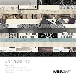 KaiserCraft paper pad - Just Landed (6.5 by 6.5 inch) - 40 sheets