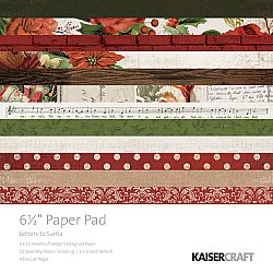 KaiserCraft paper pad - Letters to Santa (6.5 by 6.5 inch) - 40 sheets
