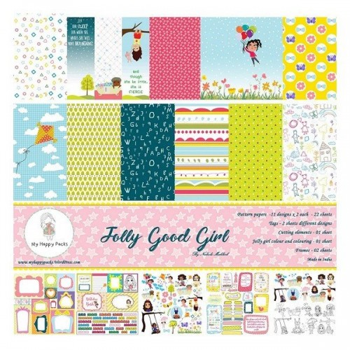 My HappyPacks - Jolly Good Girl (12 by 12 patterned paper)