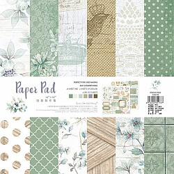 10x10 EnoGreeting Scrapbook paper pack - Vintage (PP016) (Set of 24 sheets and 2 die cut sheets)