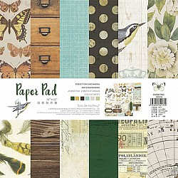 10x10 EnoGreeting Scrapbook paper pack - Muted Tones (PP017) (Set of 24 sheets and 2 die cut sheets)