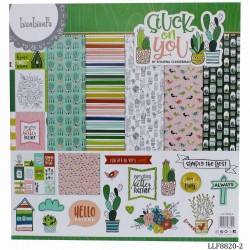 LianFa 12by12 inch Scrapbook Paper - Stuck on You