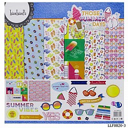 LianFa 12by12 inch Scrapbook Paper - Summer Days