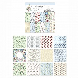 12x12 Scrapbook paper pack - Breath of Spring (Set of 24 sheets)