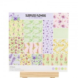 12x12 Scrapbook paper pack - Sleepless Flowers (Set of 24 sheets)