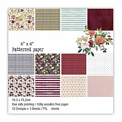 Wedding Scrapbook Paper (Pack of 24 sheets) - 6 by 6 inch