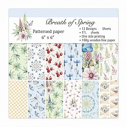 Breath of Spring Scrapbook Paper (Pack of 24 sheets) - 6 by 6 inch