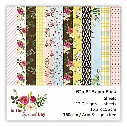 In the Special Day Scrapbook Paper (Pack of 24 sheets) - 6 by 6 inch