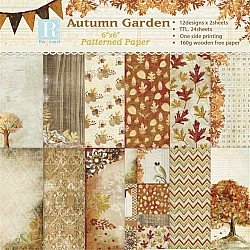 Autumn Garden (Pack of 24 sheets) - 6 by 6 inch