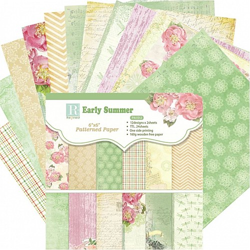 Early Summer (Pack of 24 sheets) - 6 by 6 inch