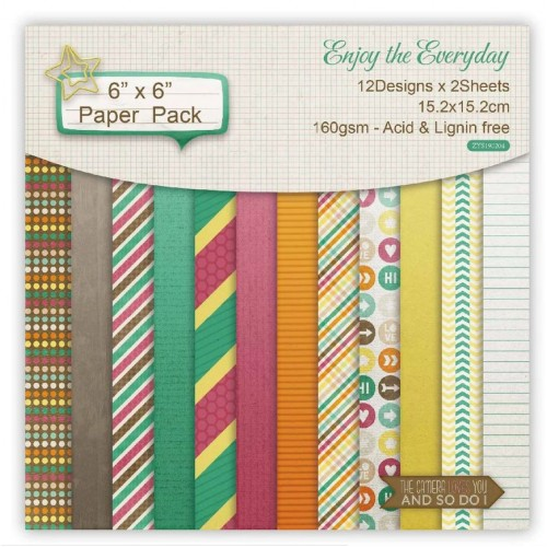 Enjoy the Everyday (Pack of 24 sheets) - 6 by 6 inch