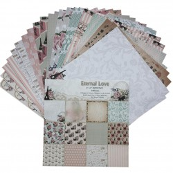Eternal Love (Pack of 24 sheets) - 6 by 6 inch