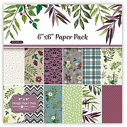 Floral Pattern (Pack of 24 sheets) - 6 by 6 inch