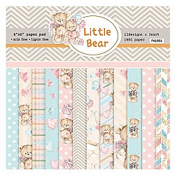 Little Bear (Pack of 24 sheets) - 6 by 6 inch