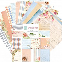 Love for Ever (Pack of 24 sheets) - 6 by 6 inch