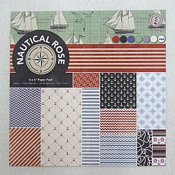 Nautical Rose (Pack of 24 sheets) - 6 by 6 inch
