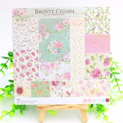 Bronte Charm Scrapbook Paper (Pack of 24 sheets) - 6 by 6 inch