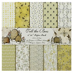 Fell the Bees - A Scrapbook Paper (Pack of 20 sheets) - 6 by 6 inch