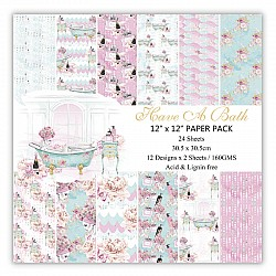 Have a Bath Scrapbook Paper (Pack of 24 sheets) - 6 by 6 inch