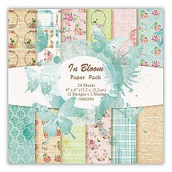 In Bloom Scrapbook Paper (Pack of 24 sheets) - 12 by 12 inch