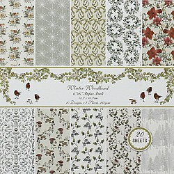 Winter Woodland - A Scrapbook Paper (Pack of 20 sheets) - 6 by 6 inch