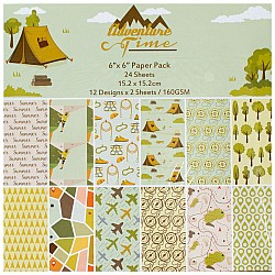 "6"" by 6"" Scrapbook paper pack - Adventure Time (Set of 24 sheets)"