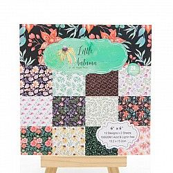 Little Autumn Scrapbook Paper (Pack of 24 sheets) - 12 by 12 inch