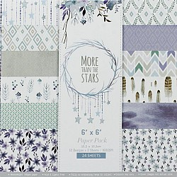 More Than Stars Scrapbook Paper (Pack of 20 sheets) - 6 by 6 inch