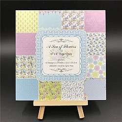 A sea of Flowers Scrapbook Paper (Pack of 24 sheets) - 6 by 6 inch