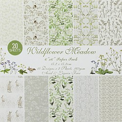 Wildflower Meadows Scrapbook Paper (Pack of 20 sheets) - 6 by 6 inch