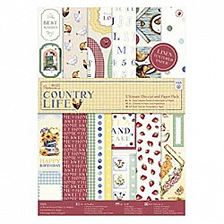 Papermania Ultimate A4 Die-Cuts & Paper Pack 48/Pkg - Country Life