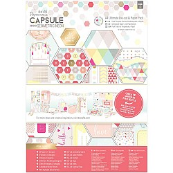 Papermania Geometric Neon Collection Ultimate Die-Cut &  A4 Paper Pack