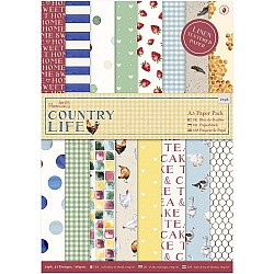 Papermania A5 Single-Sided Paper Pack 24/Pkg - Country Life