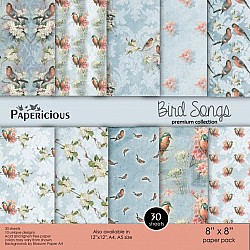 Papericious Premium Collection - Bird Songs (8 by 8 patterned paper)