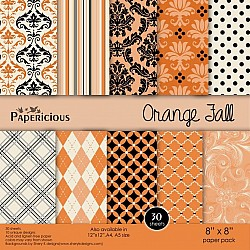 Papericious - Orange Fall (8 by 8 patterned paper)