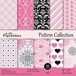 Papericious - Pattern Collection - Vol 1 (8 by 8 patterned paper)