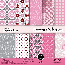 Papericious - Pattern Collection - Vol 2 (8 by 8 patterned paper)