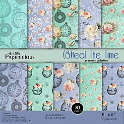 Papericious Premium Collection - Steal the TIme (8 by 8 patterned paper)