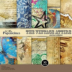 Papericious Premium Collection - The Vintage Attire (8 by 8 patterned paper)