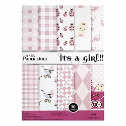 Papericious - Its a Girl (A4 paper)