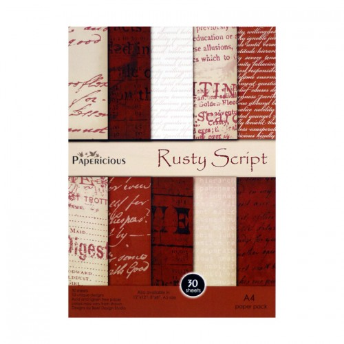 Papericious - Rusty Script (A4 paper)