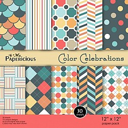 Papericious - Color Celebrations (12 by 12 patterned paper)