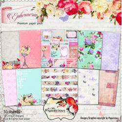 Papericious Premium Collection - Ephemera (12 by 12 paper)