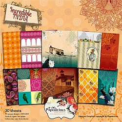 Papericious Designer Collection - Incredible India (6 by 6 patterned paper)