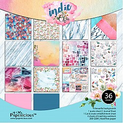 Papericious  Premium Collection - Indie Chic (12 by 12 patterned paper)