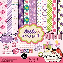Papericious - Little Angel (12 by 12 patterned paper)