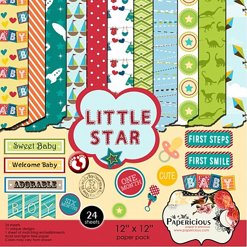 Papericious - Little Star (12 by 12 patterned paper)