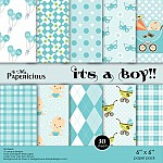 Papericious - Its a Boy (6 by 6 patterned paper)