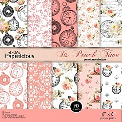Papericious Premium Collection - Its Peach TIme (6 by 6 patterned paper)